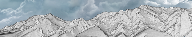 3D visualization of lidar point cloud data of the Flatirons, Boulder, Colorado