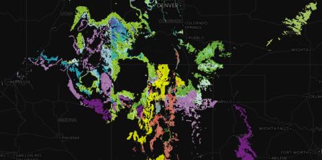 Regional stratigraphic map of southwestern United States