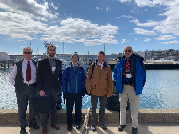 GSA Members following a meeting with the office of Rep. Pingree on 19 March 2019. From left to right, Steve Pollock, Ryan Gordon, Mark Jordan, Andy Reeve, and Don Siegel.