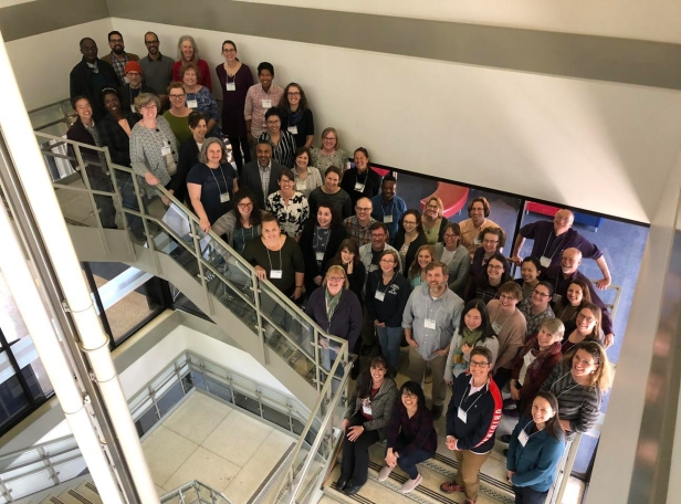 A group photo of InTeGrate Diversity, Equity, and Inclusion in the Earth and Environmental Sciences workshop participants.