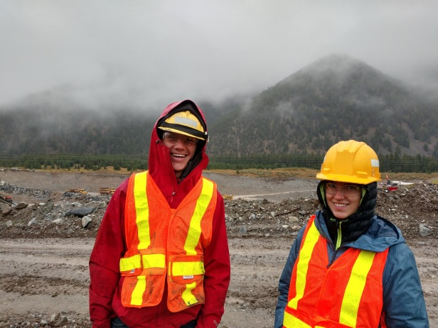 Penelope Vorster, USFS, Custer Gallatin NF, With Montana Conservation Corps member Dustin Kisner touring mine facilities at Sibanye Stillwater East Boulder extension, 2019.