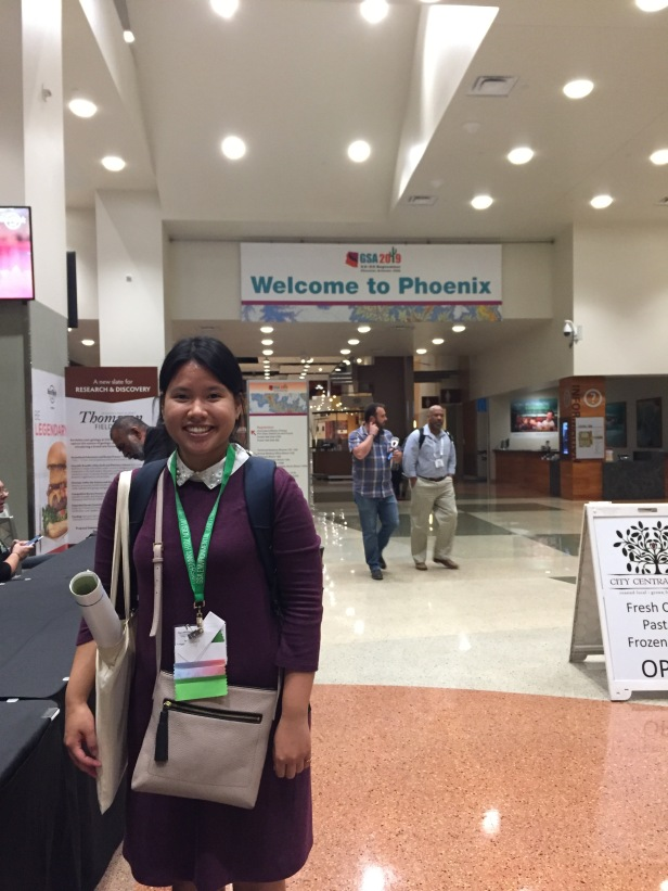 Lavie Nguyen, University of Saskatchewan, attending her first GSA Annual Meeting in Phoenix, AZ.