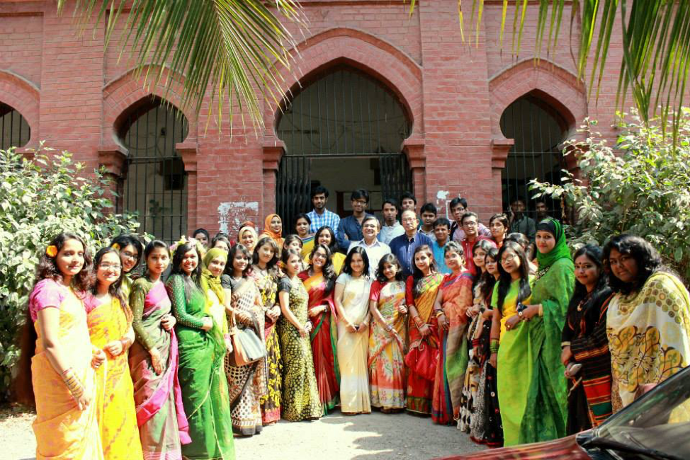 Image 4. An astonishing representation of female geology students at Dhaka University. It was unfathomable in 1973 when we started as undergraduates. Attraction towards geoscience careers and broader available scopes for employment opportunities and pursuing higher education piqued their interest.